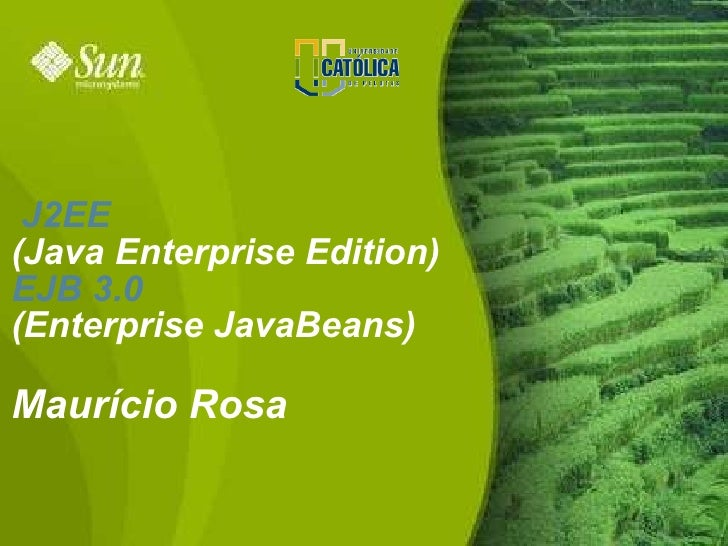 J2EE (Java Enterprise Edition) EJB 3.0 (Enterprise JavaBeans)  Maurício Rosa                              1