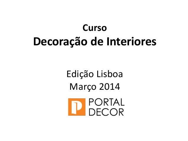 curso decoracao de interiores niteroiCursoDecoração de