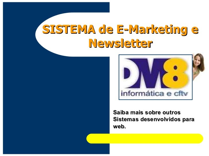 Sistema de E-Marketing e Cadastro de Newsletter.