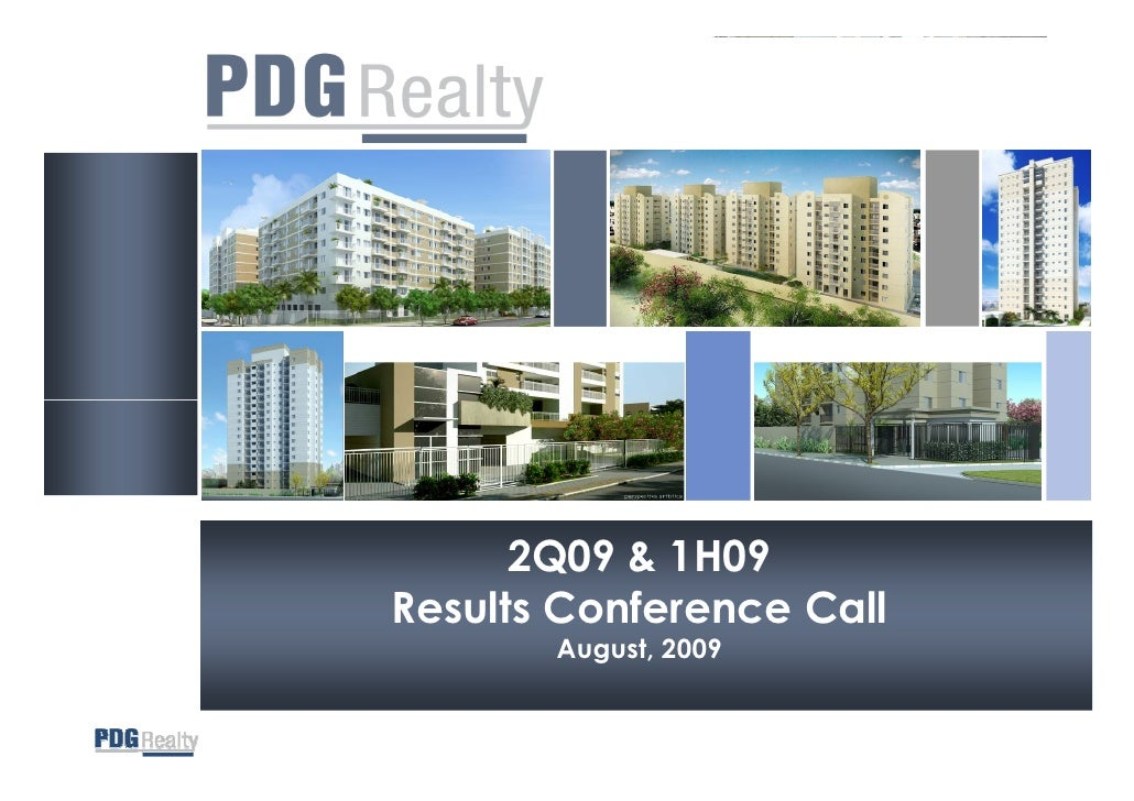 2Q09 & 1H09 Results Conference Call        August, 2009