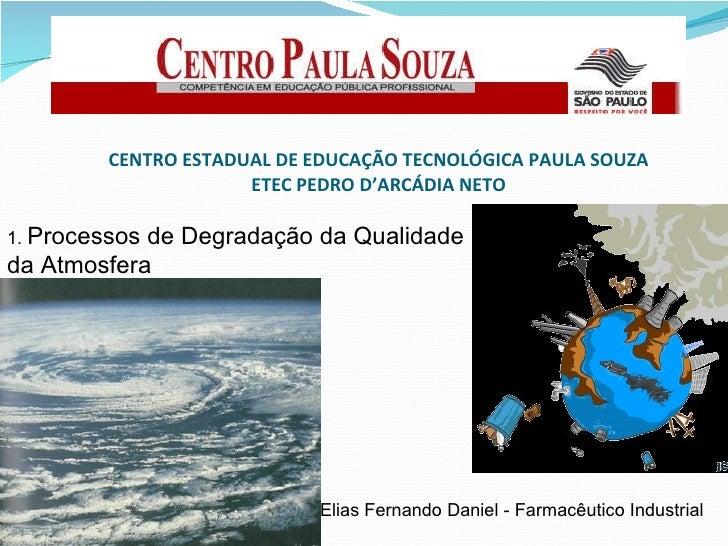 CENTRO ESTADUAL DE EDUCAÇÃO TECNOLÓGICA PAULA SOUZA ETEC PEDRO D'ARCÁDIA NETO 1.  Processos de Degradação da Qualidade da ...