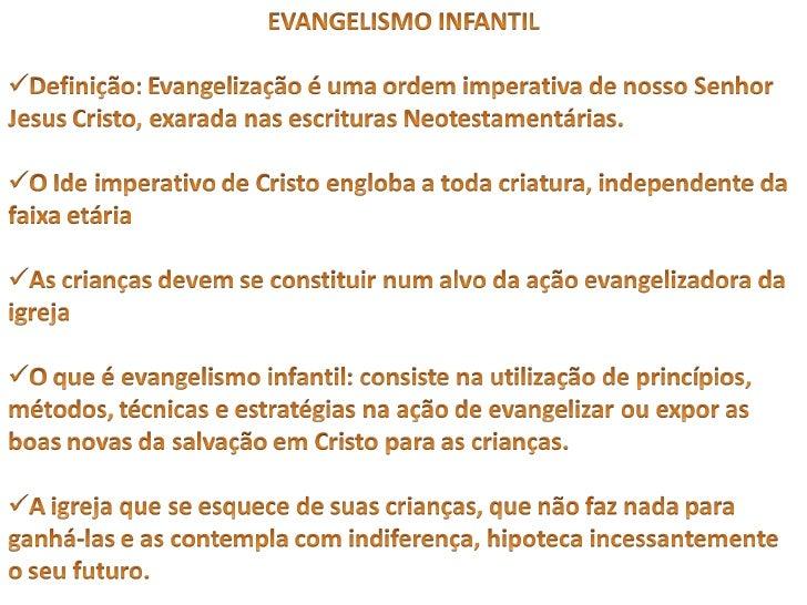 Apresentação evangelismo 2