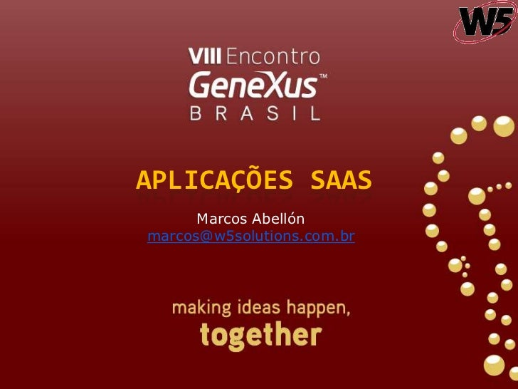 Aplicações transacionais e de Business Intelligence na nuvem (Amazon e Azure) utilizando Genexus X Ev1