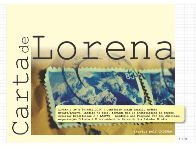 Apresentação final carta de lorena