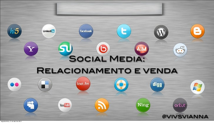 Social Media:                                     Relacionamento e venda                                                  ...