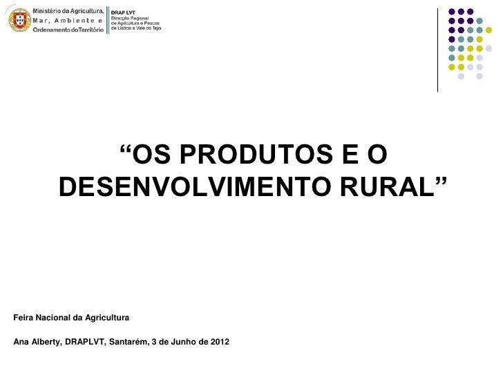 Os Produtos e o Desenvolvimento Rural - Ana Alberty