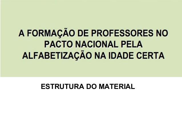 Apresentação Material PNAIC