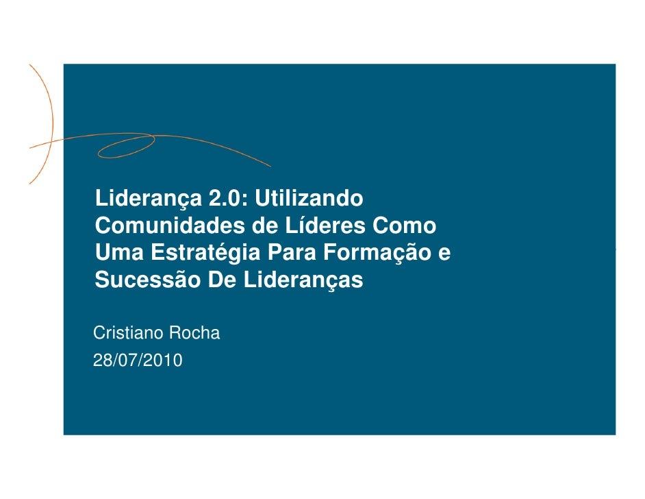 IQPC 2010 - Gestão e Liderança