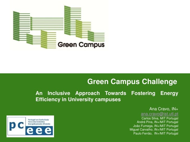 Green Campus ChallengeAn Inclusive Approach Towards Fostering EnergyEfficiency in University campuses                     ...
