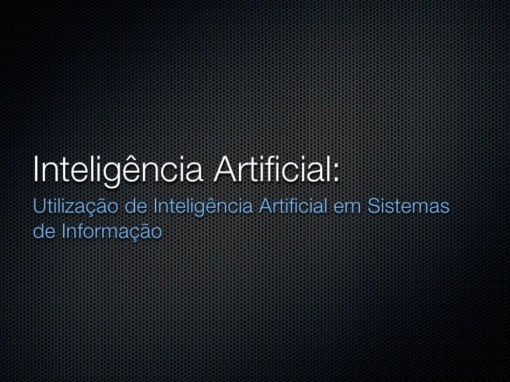 Apresentação IA