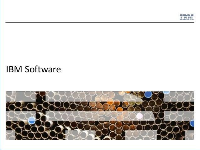 IBM Software Capabilities  ®  IBM Software  1  © 2011 IBM Corporation