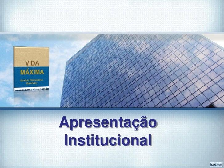Apresentação institucional 2012