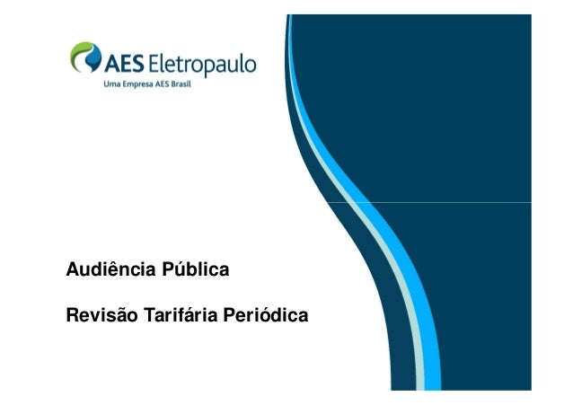 Audiência Pública Revisão Tarifária Periódica