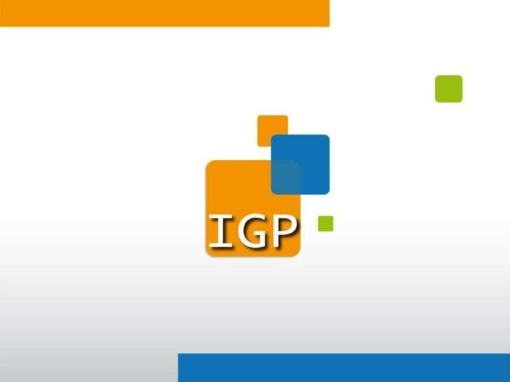 Apresentação Institucional da IGP
