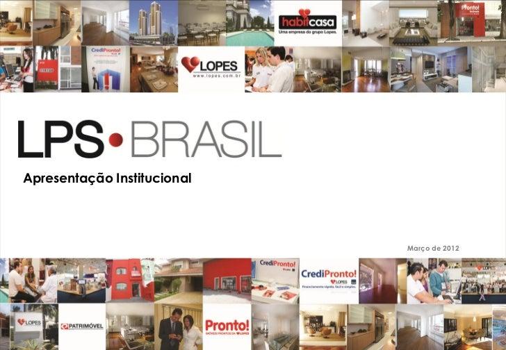 Apresentação institucional português 26.03.12