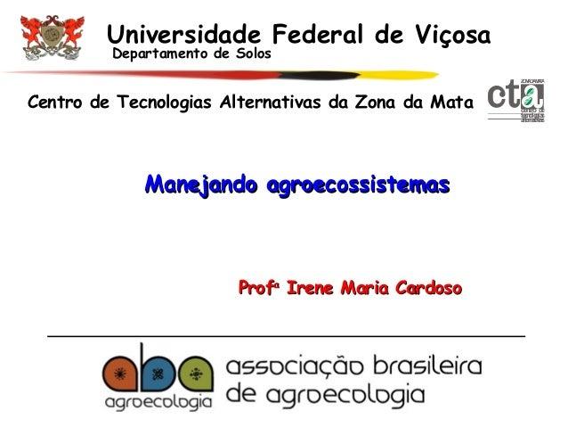 Universidade Federal de Viçosa Departamento de Solos  Z N D MT O A A AA  Centro de Tecnologias Alternativas da Zona da Mat...