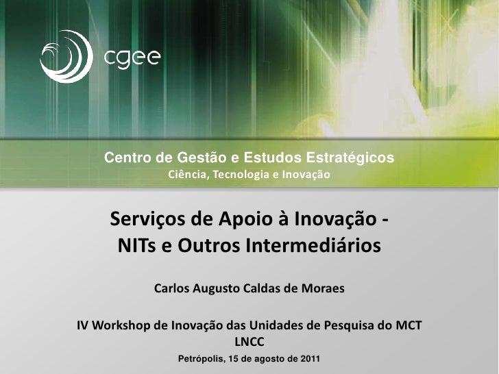 Centro de Gestão e EstudosEstratégicos<br />Ciência, Tecnologia e Inovação<br />Serviços de Apoio à Inovação -NITs e Outro...