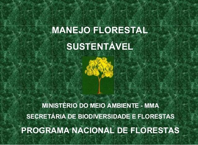 Apresentação  manejo florestal