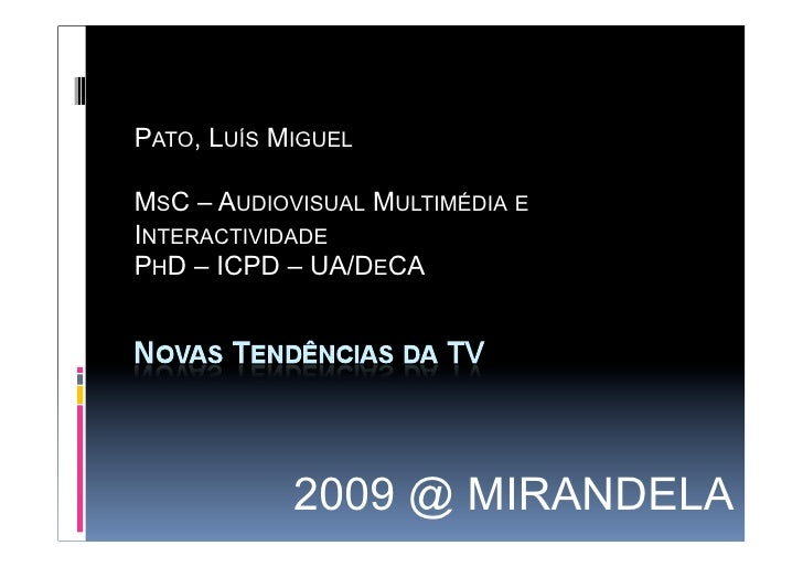 Apresentação  Mirandela