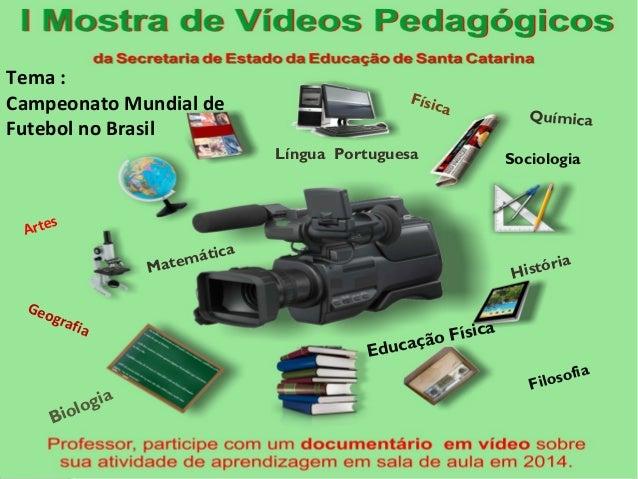 Tema : Campeonato Mundial de Futebol no Brasil Artes Geografia Matemática Língua Portuguesa Química Física Filosofia Biolo...