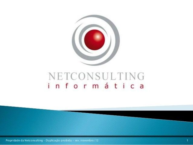 Propridade da Netconsulting – Duplicação proibida - rev. novembro/12   1
