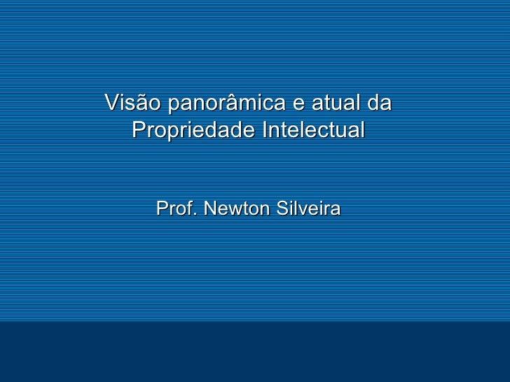 Visão panorâmica e atual da Propriedade Intelectual - Newton Silveira