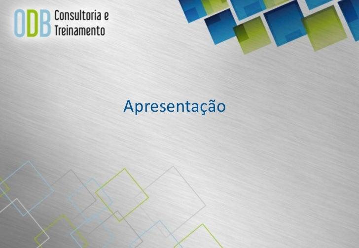 Apresentação ODB consultoria e treinamento
