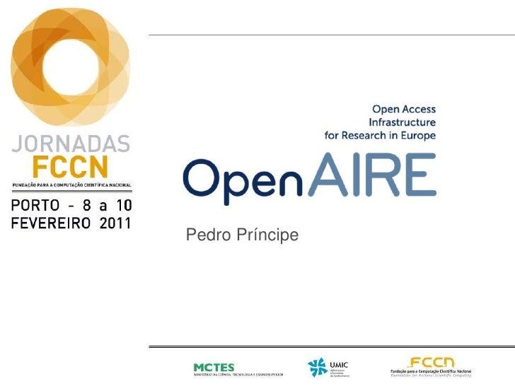 OpenAIRE apresentado no âmbito do projecto RCAAP