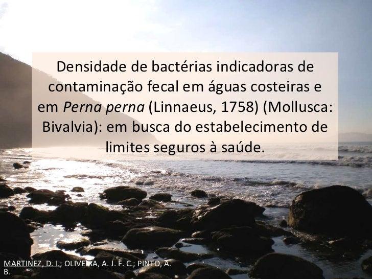 Densidade de bactérias indicadoras de contaminação fecal em águas costeiras e em  Perna perna  (Linnaeus, 1758) (Mollusca:...