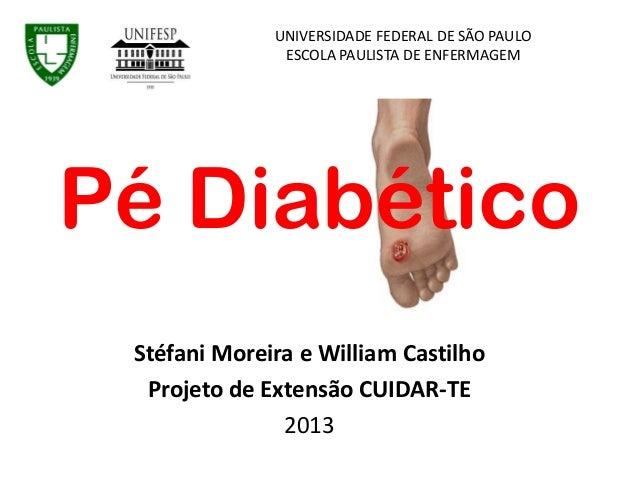 Stéfani Moreira e William Castilho Projeto de Extensão CUIDAR-TE 2013 UNIVERSIDADE FEDERAL DE SÃO PAULO ESCOLA PAULISTA DE...