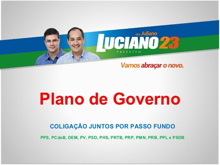 Programa de Governo - Luciano prefeito