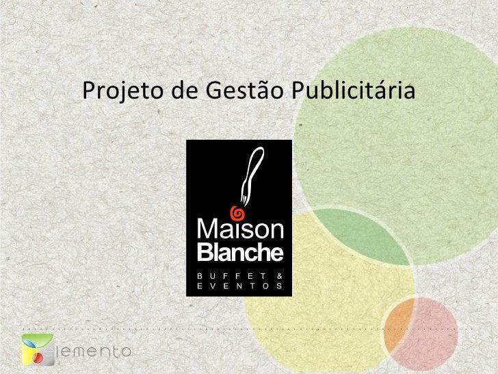 Projeto de Gestão Publicitária