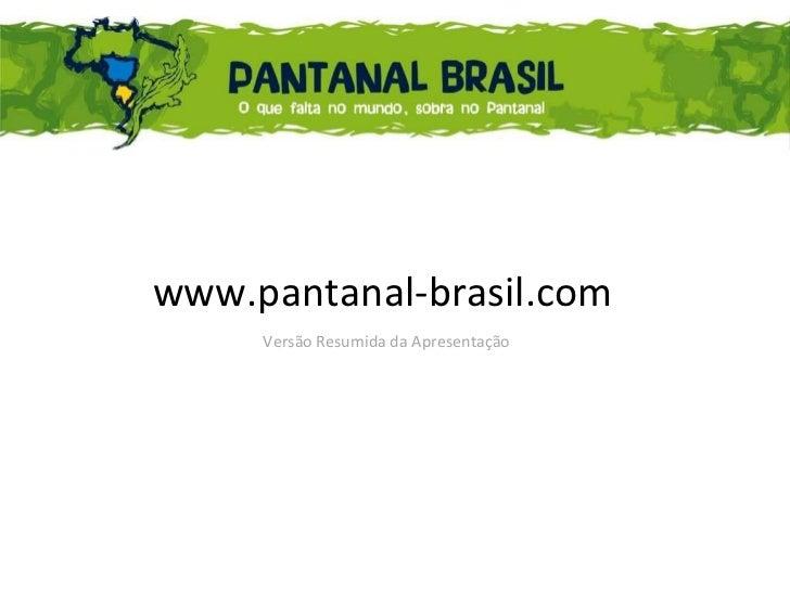 Apresentação resumida do Portal Pantanal Brasil - MT /MS