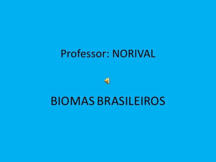 Apresentação power point sobre biomas