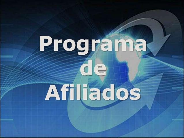 Apresentação programa de afiliados
