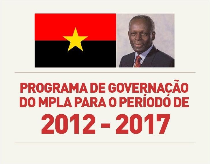 Programa de governação do MPLA para o período de 2012 - 2017