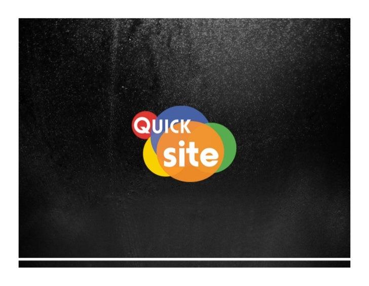 Quick Site - Sites rápidos e customizados.