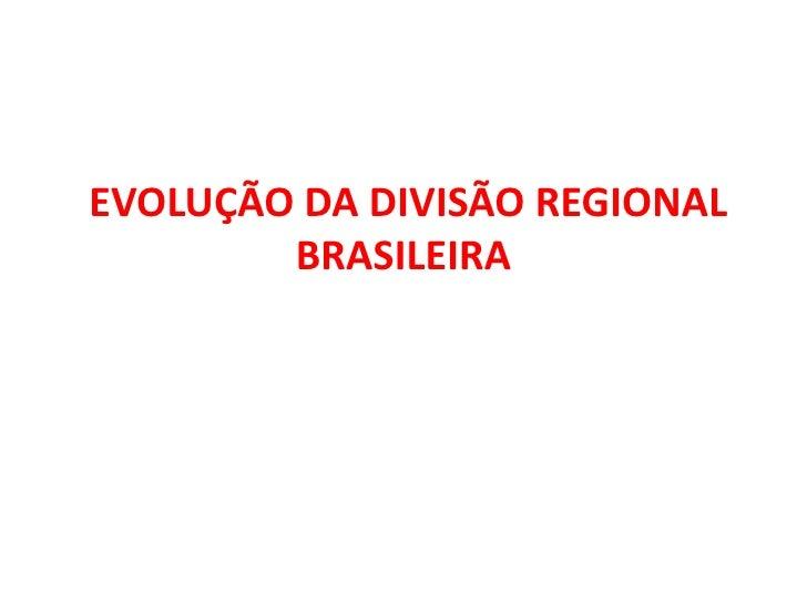 Apresentação regionalização