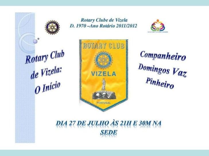 Rotary Club de Vizela: O Início