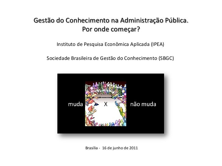 Evento de GC no IPEA: Apresentação Secretaria de Gestão SP