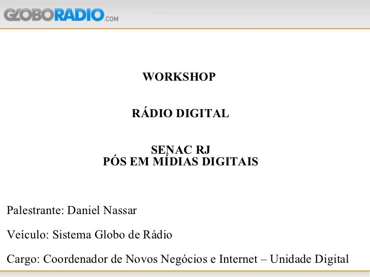 Apresentação senac mídias digitais junho 2010