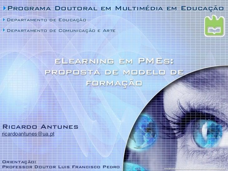‣Programa Doutoral em Multimédia em Educação‣ Departamento de Educação‣ Departamento de Comunicação e Arte                ...