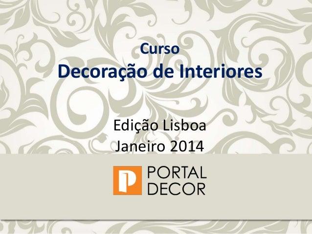 Curso Decoração de Interiores Lisboa apresentação Sofia Correia