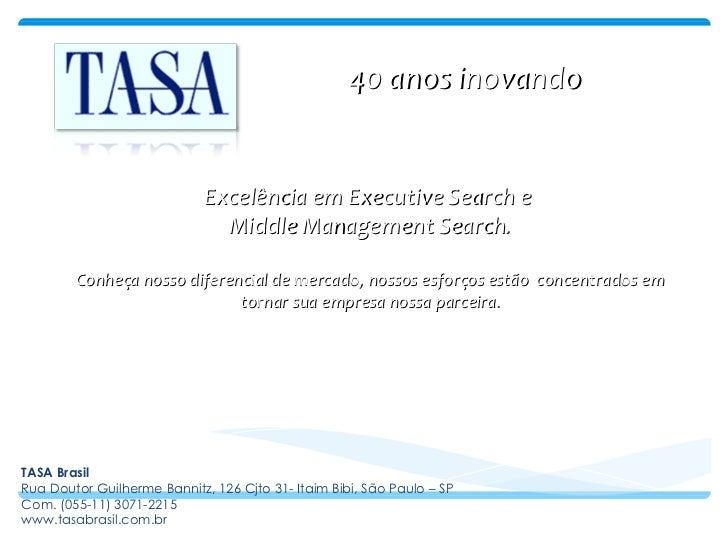 Apresentação TASA Brasil