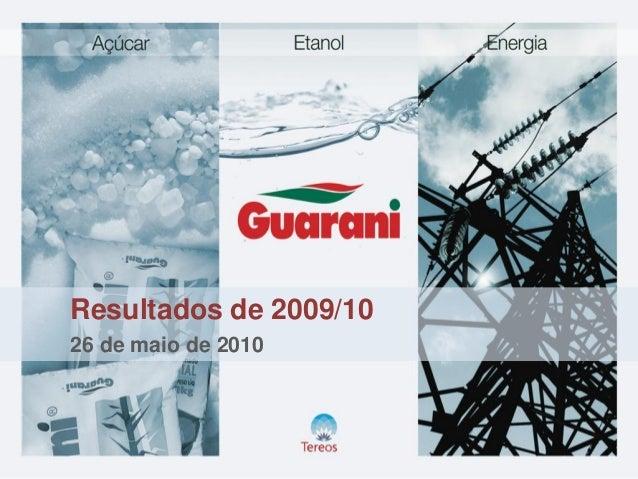 Resultados de 2009/10 26 de maio de 2010