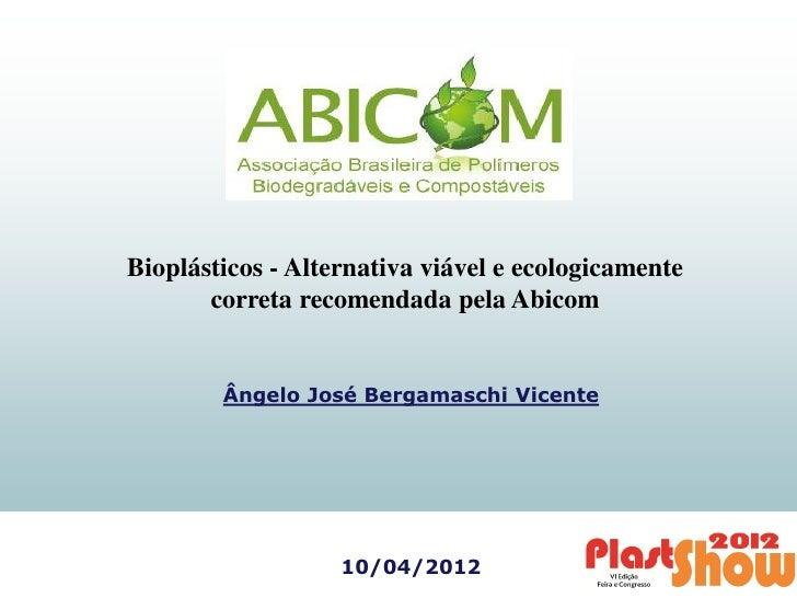 Apresentação ABICOM - PlastShow