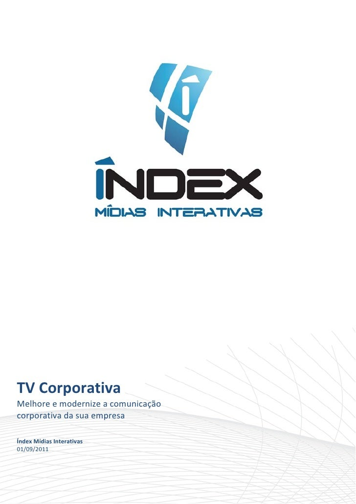 TVCorporativaMelhoreemodernizeacomunicaçãocorporativadasuaempresaÍndexMídiasI...