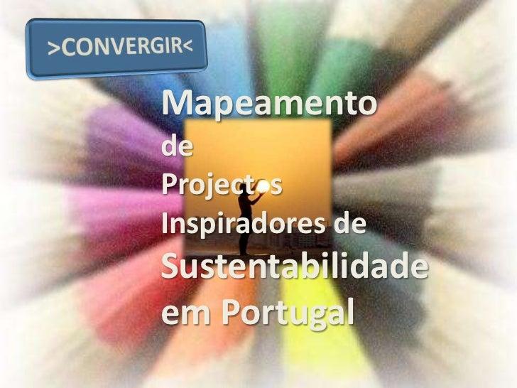 MapeamentodeProject sInspiradores deSustentabilidadeem Portugal