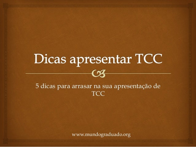 Apresentar tcc