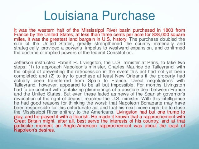 louisiana purchase essay thesis Essays on louisiana we have found 500 essays louisiana purchase louisiana was a territory in central united states that remained under the control of.